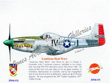 "P-51D Mustang ""Louisiana Heat Wave"" Giclee & Iris Prints by Willie Jones Jr."