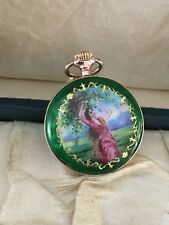 Antique 18K Solid Gold Enamel Ladies Pocket Watch Serviced  ~ 15 Grams