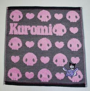 New SANRIO Original KUROMI Pink & Gray Washcloth