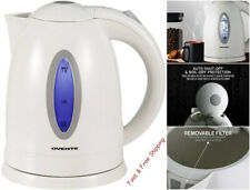 Electric Tea Kettle Hot Water Kitchen Cordless Fast Boiler White