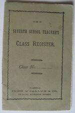 "1907 ""Sabbath School Teacher's Class Register"", Scottish National, Glasgow"
