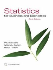 Statistics for Business and Economics 6th Edition by Paul Newbold, William...