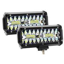 7in 120W Led Work Fog Light Bar Combo Lamp Offroad Driving Lamp Atv Suv 4WD Boat