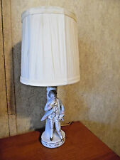OCCUPIED JAPAN PORCELAIN LAMP COLONIAL VICTORIAN MAN