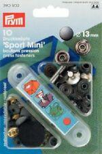 Prym Sport Mini Pressabottoni Bottoni Anorak 13mm Rivestimento Nero Ossido con