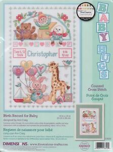 Dimensions BIRTH RECORD FOR BABY Counted Cross Stitch Kit #13650 Tracked Postage