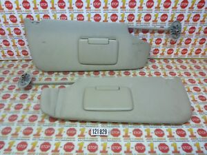 2006-2010 JEEP COMMANDER DRIVER & PASSENGER SUN VISOR SET PAIR FACTORY OEM