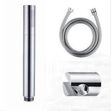 Bathroom Chrome Brass Water saving Round Hand Shower Head Handheld Sprayer Set