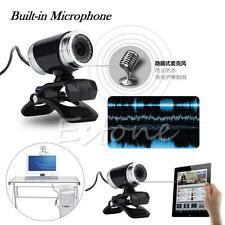 50 Megapixel HD Camera Web Cam 360° w/MIC Clip-on for Desktop Skype Computer