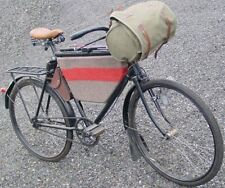 New Vintage Bicycle handlebar bike bag Swiss Army Olive/Green Canvas Leather