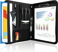 Procase Portfolio Business Padfolio Folder With Zipper For Men Women