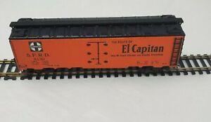 SANTA FE HO ICE REEFER Route Of El Capitan Santa Fe all the way NO. SFRD 8130