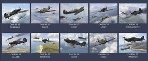 Hurricane MK1 Aces DFC collectors postcard set Battle of Britain Bader,Gleed,etc