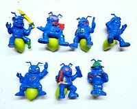 Hasbro 1987 Lot of 7 Army Ants Vintage Mini Figures Blue VTG Collectible