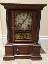 Antique Working 1850's Atkins London 8 Day Victorian Early American Mantel Clock