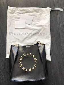 Stella McCartney Black/Gold Mini Crossbody Bag
