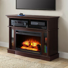 "TV Stand Media Electric Fireplace Entertainment Console 45"" Heater Storage Wood"