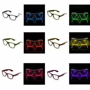EL LED Glasses EL Wire Light Glow Sunglasses Eyewear Shades Nightclub Party lot