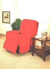 RED RECLINER COVER-ALSO SOFA COUCH LOVESEAT & CHAIR SLIPCOVERS-A GREAT CHOICE X