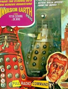 """Dr Doctor Who 12"""" Radio Controlled Movie Dalek GOLD Product Enterprise"""