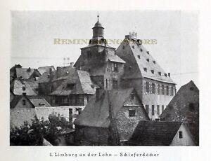 German Limburg an der Lahn - Schieferdacher © 1921 Reprint vintage Picture