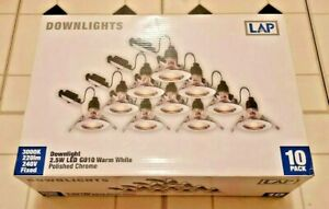 LAP Fixed Warm White GU10 LED Downlight Contractor Pack 240V 10 Pack
