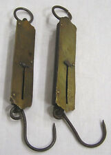 Vintage Two 25lb Brass Spring Balance Scales Morten & Bremner and Frary Improved