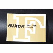 Nikon F Instruction Book / Owner's Manual / Bedienungsanleitung - ENGLISCH
