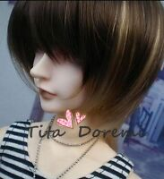 "Bjd Doll Wig Dal Pullip Byllthe SD DOD LUTS Dollfie brown mix Toy Hair 1/3 8-9"""