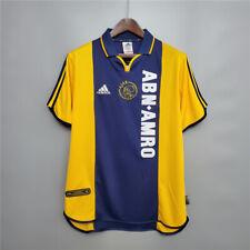 2001 Ajax yellow Retro Soccer Jersey