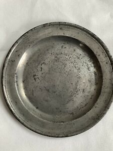 Antique 1700s London Pewter Plate