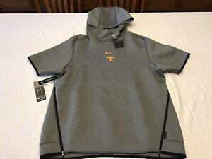 Nike Tennessee Vols Gray Sideline Repel Short Sleeve Pullover Hoodie Men's Large