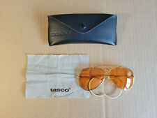 Vintage Tasco shooter / aviator sunglasses with case and cloth