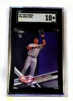 2017 Topps Chrome Catching Aaron Judge Rookie RC #169 SGC 10 Gem Comp PSA BGS