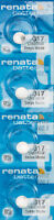4 x Renata 317 Watch Batteries, SR516SW Battery   Shipped from USA