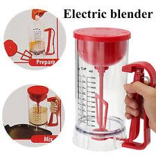 Cordless Electric Pancake Cupcake Waffles Batter Mixer Dispenser Maker Machine