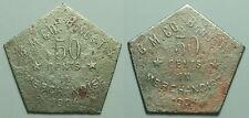 VERY UNUSUAL B. M. CO., 50c DATED 1904 TOKEN, BONUS, WHARTON COUNTY, TEXAS TX