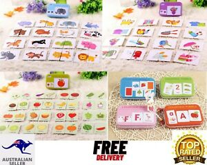 COGNITIVE FLASH CARDS/kids Baby educational Toy AU Style