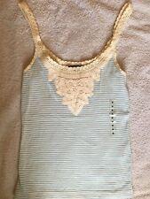 Ralph Lauren Polo Women Blue Top Medium embroidered Sleeveless RRP £85 Gift