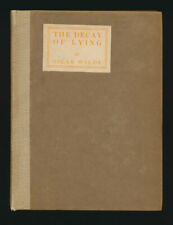 "Oscar Wilde ""Decay of Lying"" 1902 Limited Edition First Separate Edition"