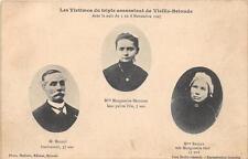 CPA 43 LES VICTIMES DU TRIPLE ASSASSINAT DE VIEILLE BRIOUDE 1907 (cpa rare