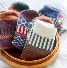 US 5 Pairs Womens Wool Cashmere Warm Soft Thick Casual Multicolor Winter Socks