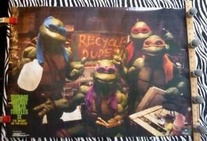 Teenage Mutant Ninja Turtles II Secret of Ooze SEALED Orig. Poster 31x22 (1991)