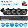 8CH 1080N AHD DVR Outdoor 3000TVL 1080P 2MP Home Security Camera System 1TB HDD