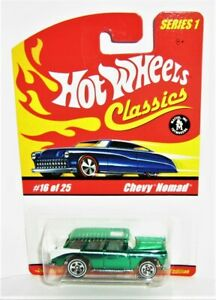 Hot wheels Classics Series 1 Chevy Nomad Green #16 of 25 New/Card