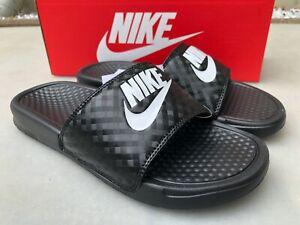 Nike Benassi Just Do It Badesandale ,schwarz/weiß ,343881-011 , Damen