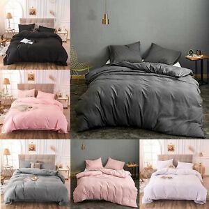 Quilt Duvet Cover Bedding Set + Pillow Cases Single Double King Super King Size
