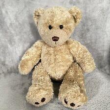 "Build a Bear 18"" Teddy Curly Brown Tan Sitting Plush Stuffed Animal"