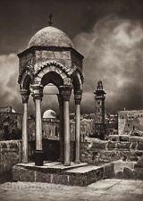 1925 Vintage JERUSALEM Chapel Temple Architecture ISRAEL Palestine Photo Art