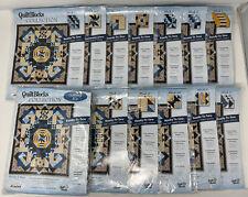 Joann RHYTHM & BLUES Quilt Blocks # 1-12 & Setting Kit